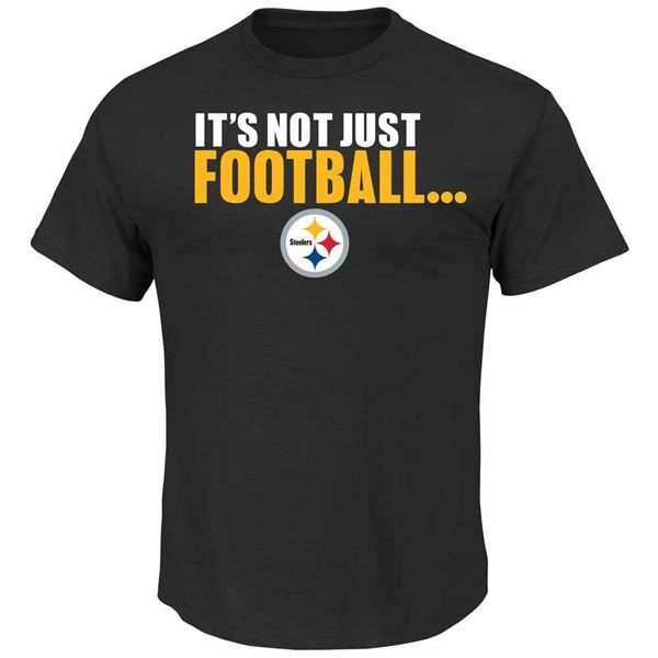Picture of Pittsburgh Steelers It's Not Just Football Black T-Shirt-Exclusive