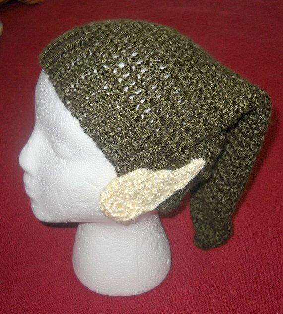 Crochet Zelda Hat : PATTERN ONLY Crocheted Zelda Link Hat with Elf Ears Attached Adult Si ...