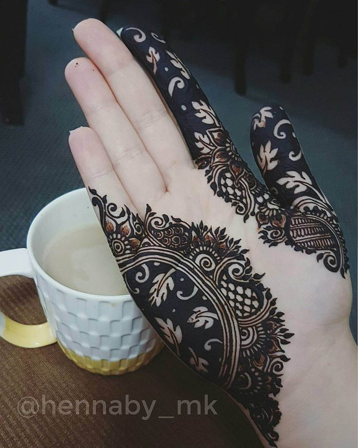 black henna classic pattern before after henna mehndi design hennaby_mk