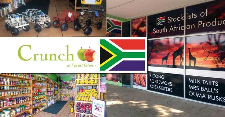 Crunch at Forest Glen has been operational for seven years. Run by Christo and Mariane Eloff, this wonderful shop offers all sorts of South African products, from fresh produce like gem squash to biltong, baking and jams. The shop has become a South African shopper's favourite, but is also highly popular with the locals.