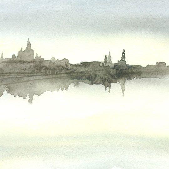 Dresden, Akvarelle.