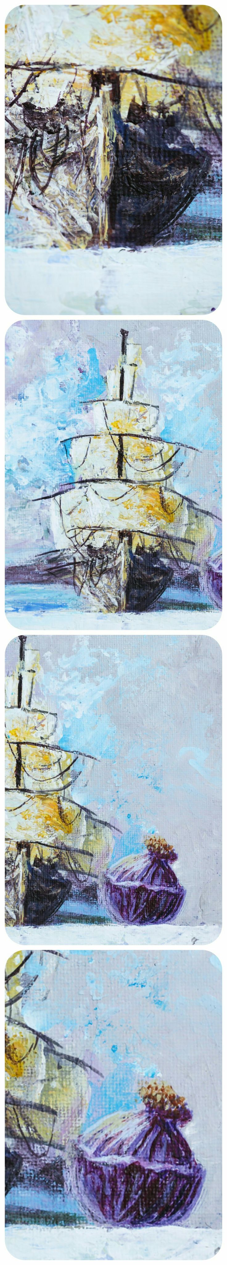 Detail of painting Ships and Onions