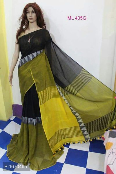 a888fc67c8b6 Khadi cotton moddhomoni saree