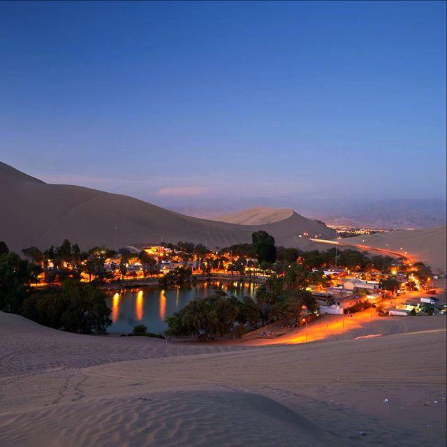 Instagram【his_usa】さんの写真をピンしています。 《☆中南米絶景特集第36☆ペルーの都市、イカ周辺の砂漠地帯にポツリとある小さな村はワカチナと呼ばれ、まるでおとぎ話に出てくるオアシスのよう!ワカチナの湖には人魚の伝説があり湖近辺には人魚像もございます。アクティブ派にはサンドバギーやサンドボードなど砂漠でしかできないスリリングなアクティビティが大人気!もちろん、砂丘から見る砂漠に沈むサンセットや夜空に光るワカチナの夜景も絶景です!ペルー観光で有名なナスカからは約2時間、リマからは4時間半でご気軽に行けます!ワカチナの観光業は大変盛んで宿泊施設やレストランもございますのでご安心して南米の絶景砂漠をお楽しみください! H.I.S.の「ペルーハイライト・スタンダードクラス滞在6泊7日」は3つの世界遺産を含むペルーの見所を凝縮した人気No.1コースを日本語ガイドと巡ります!→ https://goo.gl/qy8ytP 北米からの中南米旅行はH.I.S.!https://goo.gl/3nxDY1  #中南米 #ペルー #イカ #砂漠 #オアシス #ワカチナ #南米…