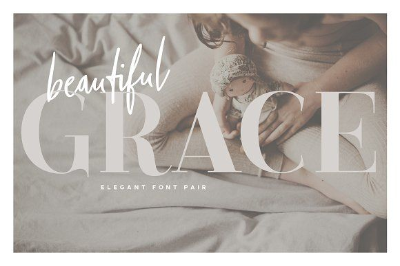 Beautiful Grace - Elegant Font Pair by Ian Barnard on @creativemarket
