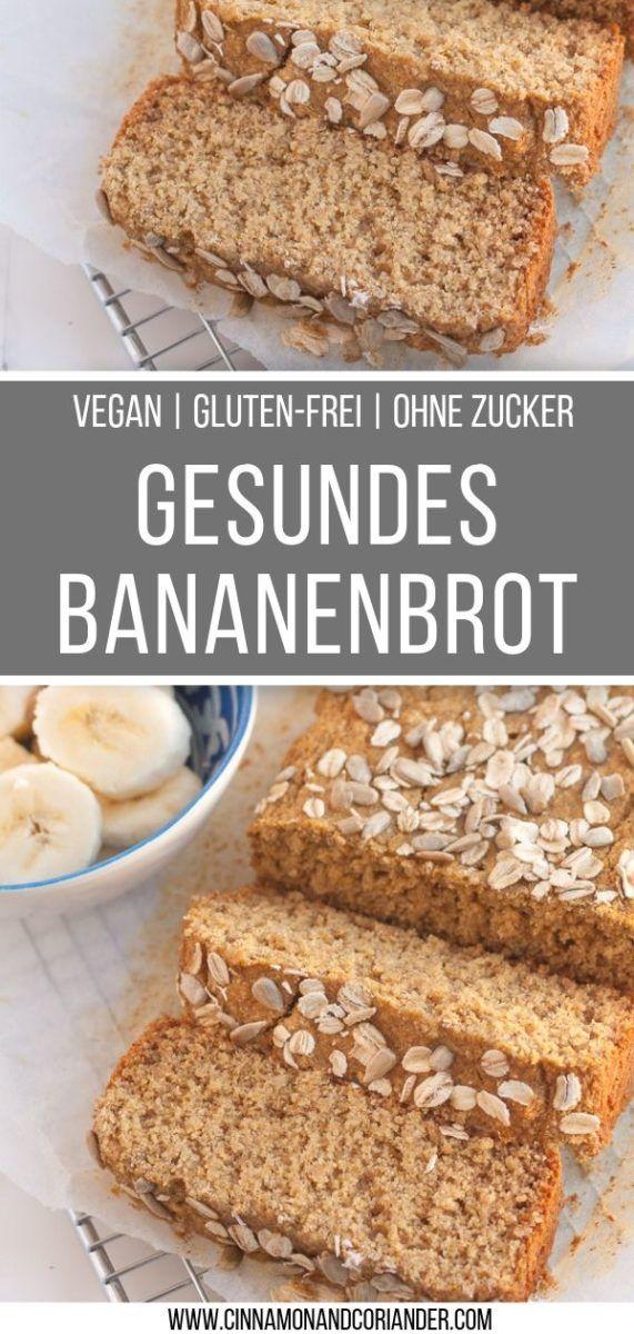 Saftiges Veganes Bananenbrot Rezept Gluten Frei Ohne Haushaltszucker Rezept Bananenbrot Bananenbrot Rezept Bananen Brot
