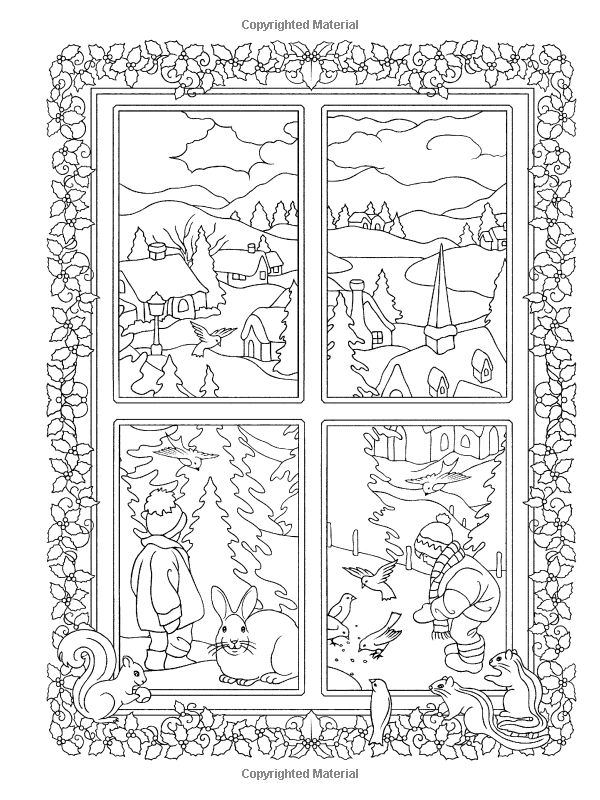 Creative Haven Winter Scenes Coloring Book Adult Marty Noble 9780486791906