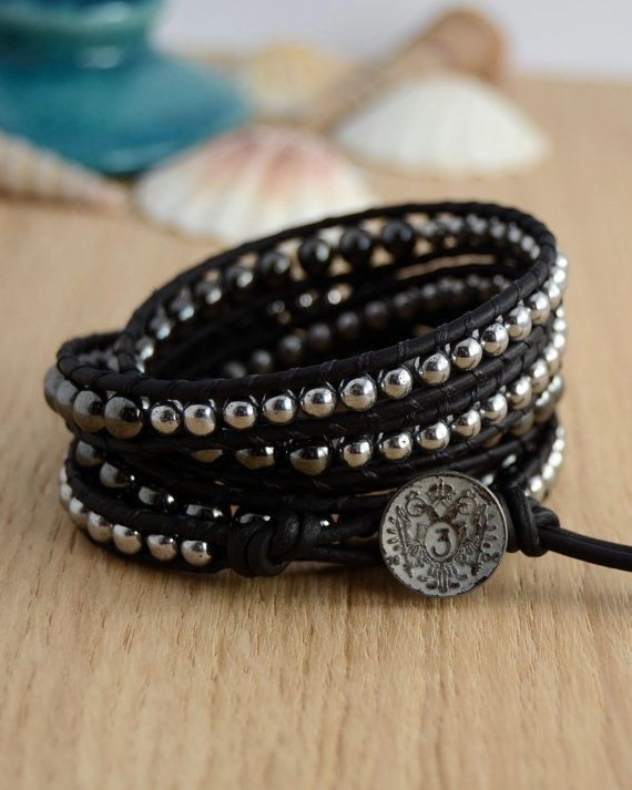 Urban chic rocker jewelry. Five wrap silver and by SinonaDesign, €69.00