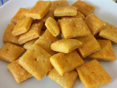 Easy homemade, preservative free, healthy cheez-its! Substitute GF flour for those with celiacs.