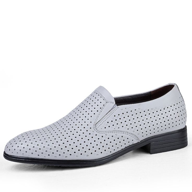 54.99$  Buy here - http://alivqw.shopchina.info/go.php?t=32803721829 - slip on big size 35-50 formal leather shoes men gents cow leather breathable dress shoes business oxfords shoes man black white  #buychinaproducts