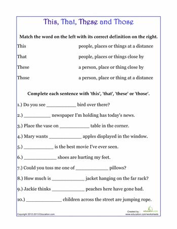 11 best This,that,these,those images on Pinterest   Grammar ...
