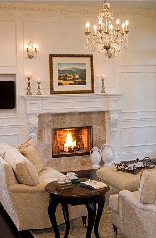 Living Room Design. Traditional Living Room Design. #LivingRoom  #TraditionalInteriors #HomeDecor #. Fireplace Living RoomsHome ...