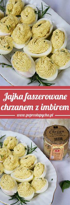 Jeżeli powoli szukasz pomysłów na Wielkanocny stół to gorąco polecam te faszerowane jajka chrzanem z imbirem <3 #ETERNO #poprostupycha #wielkanoc #jajka #faszerowane #chrzan