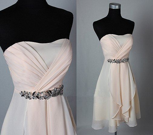 Bd07272 Charming Homecoming Dress,Strapless Homecoming Dress,Chiffon Homecoming Dress, Cute Short Prom Dress