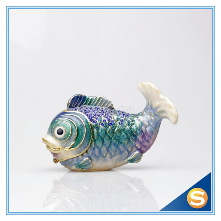 Find More Bottles,Jars & Boxes Information about Wholesales Nemo Fish Handmade Jeweled Metal & Enamel Trinket Box,High Quality fishing lure tackle box,China fish dark Suppliers, Cheap box fta from Shinny Gifts CO., Ltd on Aliexpress.com