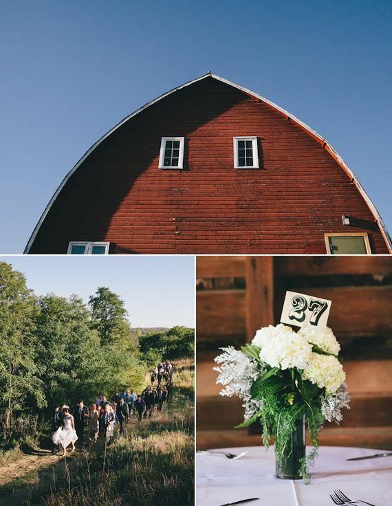 loving the parade through the field; Rustic Vintage Nebraska Wedding | Mullers Photo |100 Layer Cake