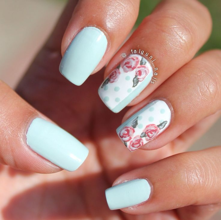 How to Create Vintage Rose Nails
