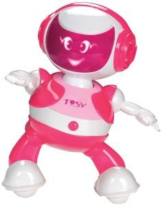 DiscoRobo Toy with Voice-Pink It dances to the beat and has 56 dance moves and 8 lively facial expressions. http://awsomegadgetsandtoysforgirlsandboys.com/tosy-robotics-discorobo/ TOSY Robotics: DiscoRobo Toy with Voice-Pink