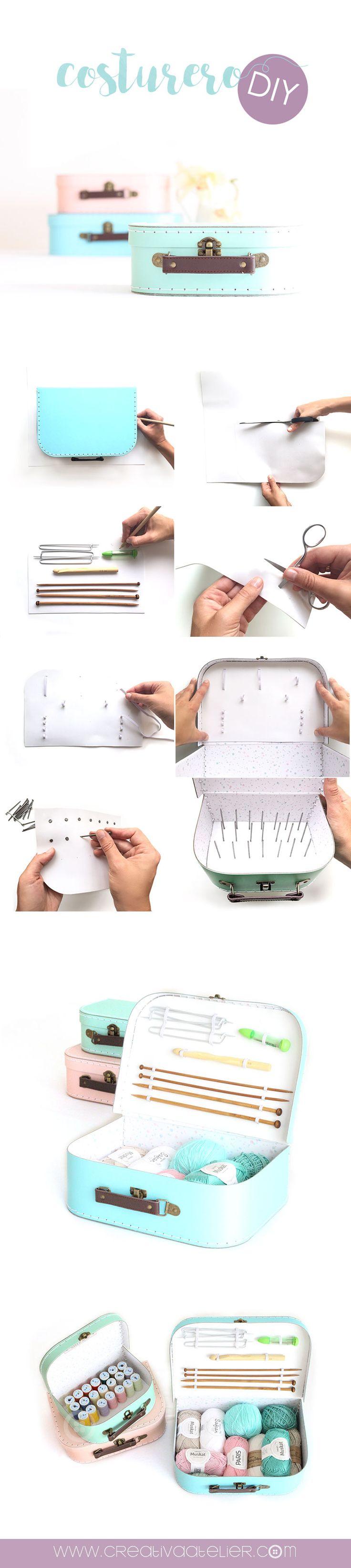 Cómo Hacer un Costurero DIY de Maletitas de Cartón