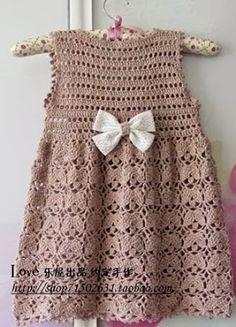 Vestido de crochê infantil - Modelo versátil