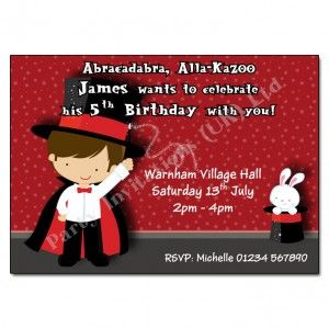 Magician Party Invitation | Children's Birthday Party Invites | £6 per pack of 10