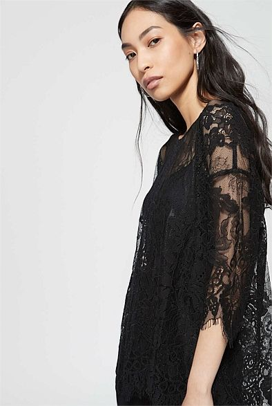 Lace Elbow Top | Woman