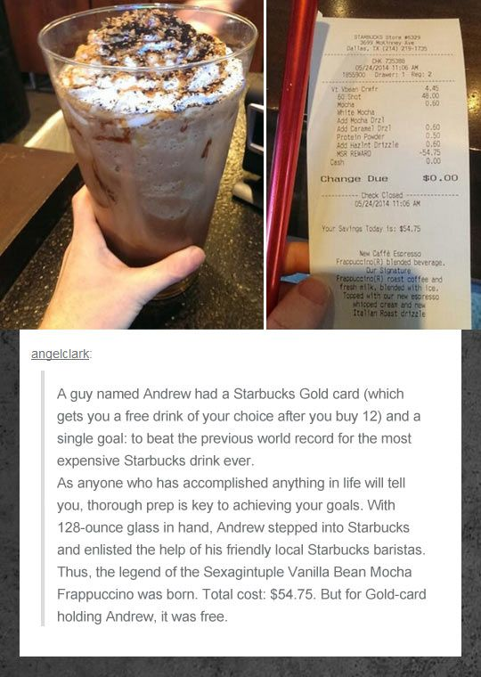 If this man came to my Starbucks I would just quit and walk out. 50 shots?! Do you have any idea how long that would take to pull???
