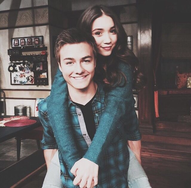Rowan Blanchard and Peyton Meyer so cute should be together on the show and for real although Rowen is only 13