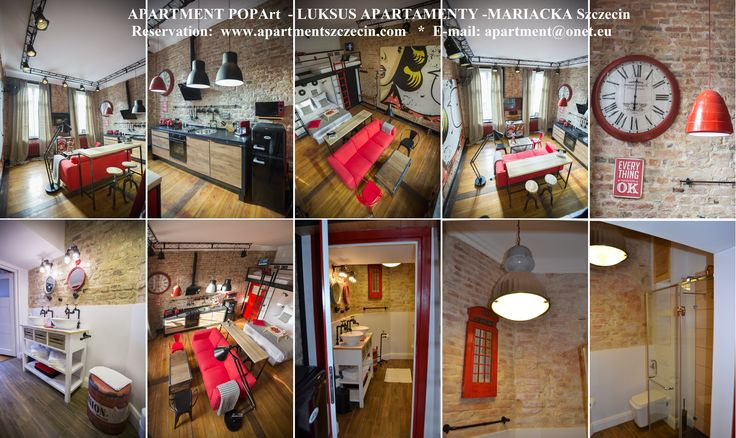 LUKSUS APARTAMENTY -MARIACKA Szczecin - POPArt 32 m2 * for rent from 1 night. for 1 -4 people apartment@onet.eu www.apartmentszczecin.com