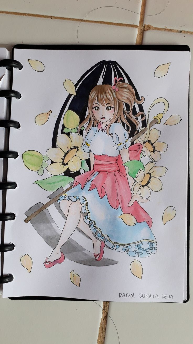 Himawari no tane ga suki desu.  Water color on paper.   #fatisonlymyth