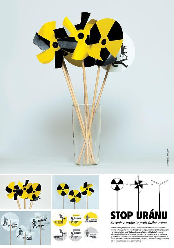 Pinwheel for the protest against uranium mining on Behance