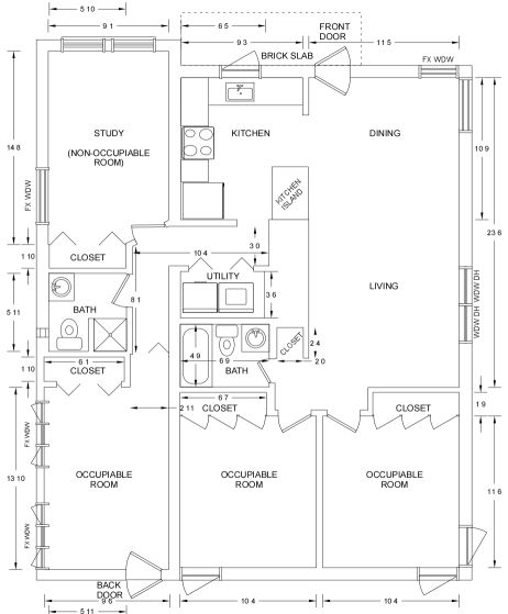 The 59 best floor plans and blueprints images on pinterest 249 milford simple floor plan 1100 sf on a 50 x 110 lot fenced malvernweather Choice Image