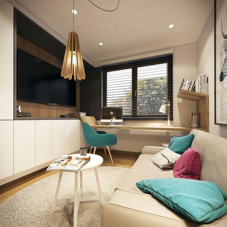 Bellissimo design scrivania, stile scandinavo moderno -  appartamento elegante e originale
