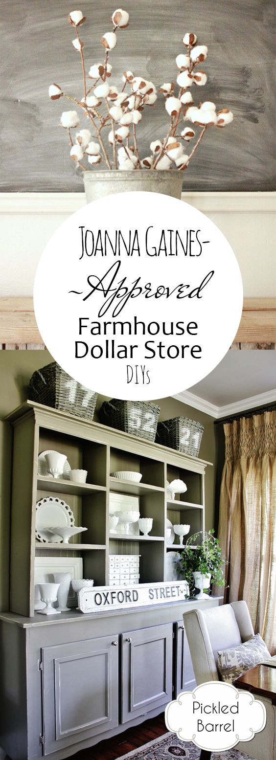 Joanna Gaines-Approved Farmhouse Dollar Store DIYs #joannagaines #farmhousestyle #farmhousedecor
