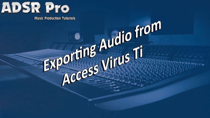 Exporting audio from Access Virus Ti into Steinberg Cubase from Midi