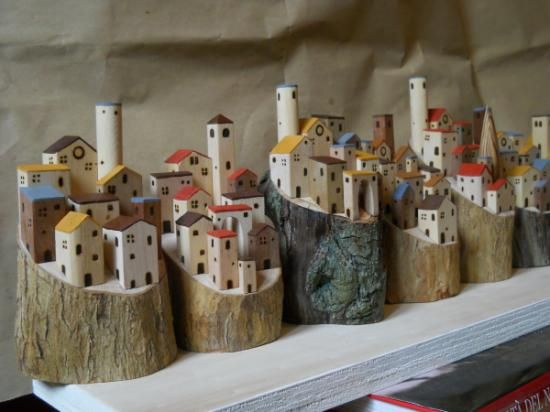 Village on the treetrunks