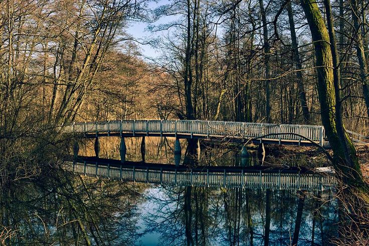 The bridge behind Sorgenfri Castle