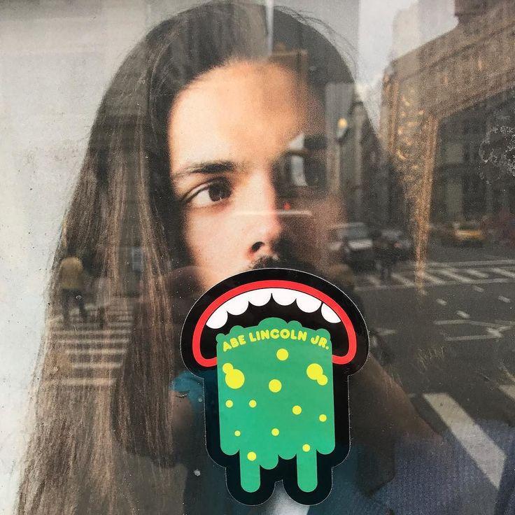 Hipster pukers #pukers #abelincolnjr #adbusting #sticker #stickers #stickerbomb #stickerporn #stickersnyc #abelincolnjr