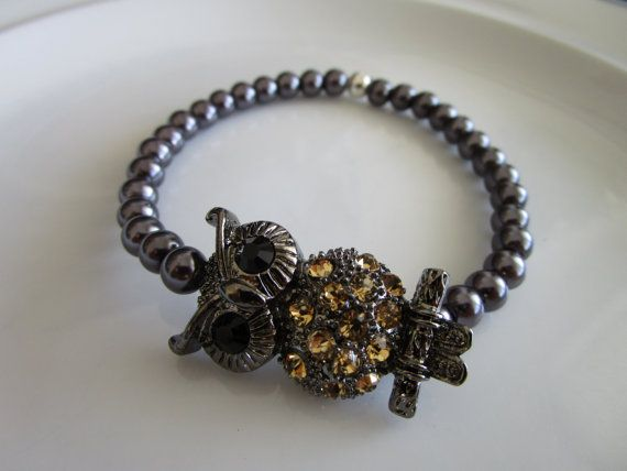 Hey, I found this really awesome Etsy listing at https://www.etsy.com/listing/262056705/gun-metal-grey-tone-gold-bejeweled-owl