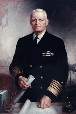 Fleet Admiral Chester William Nimitz, GCB, USN (February 24, 1885 – February 20, 1966) was a five-star admiral of the United States Navy. Born in Fredericksburg, TX.