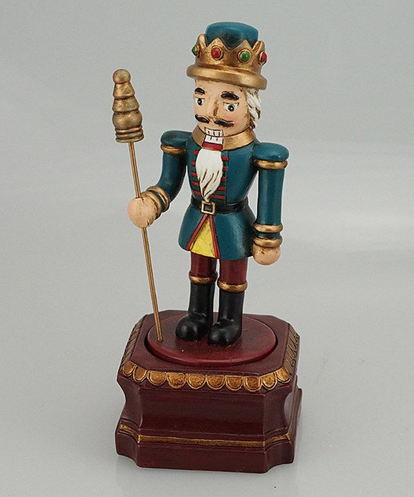 Look at this Burgundy & Blue Nutcracker Music Box on #zulily today!
