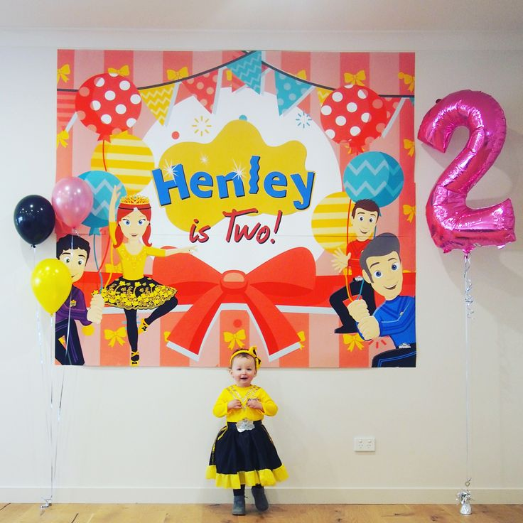 Our daughter's 2nd Birthday, wiggles inspired
