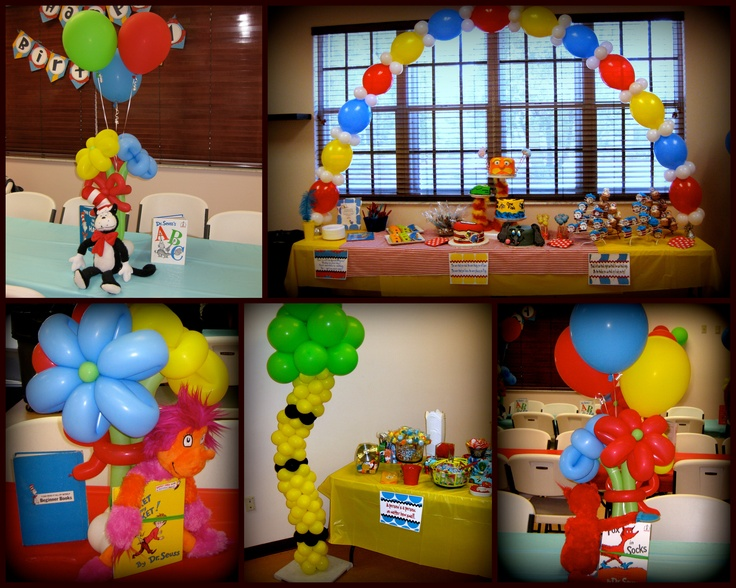Balloon Columns, Balloon Arch, Balloon Ideas, Balloons, Dr Seuss Birthday,  Birthday Bash, Birthday Parties, Birthday Ideas, Birthday Decorations