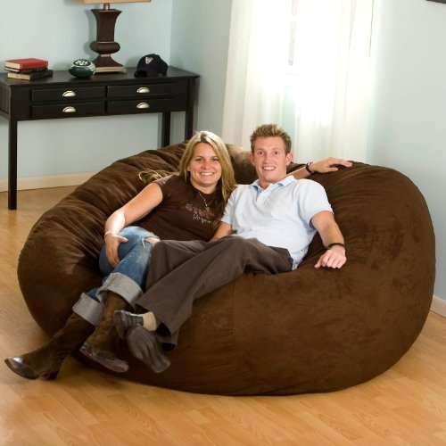 The Large 7 Ft. Micro Suede Foam Bean Bag Sofa gives you supreme bean bag comfort with exceptional style. Its patented urethane foam-filled filling does not break down over time like polystyrene beans. Available in a variety of colors, the inviting micro-suede covering can match any home decor. The best part? Theres more than enough room to spread out and relax - even for two or three. About Passion Suede Ultra-fine...