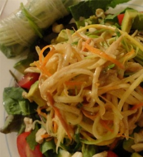 Raw Recipes: Healthy Thai Food: Pad Thai, Spring Rolls and Peanut Sauce Recipes