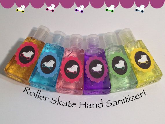 Roller Skating Party Favors-Roller Skating Hand Sanitizer-Roller Skating Hand Wash-Skating Party Supplies-Set Of 6 on Etsy, $12.00