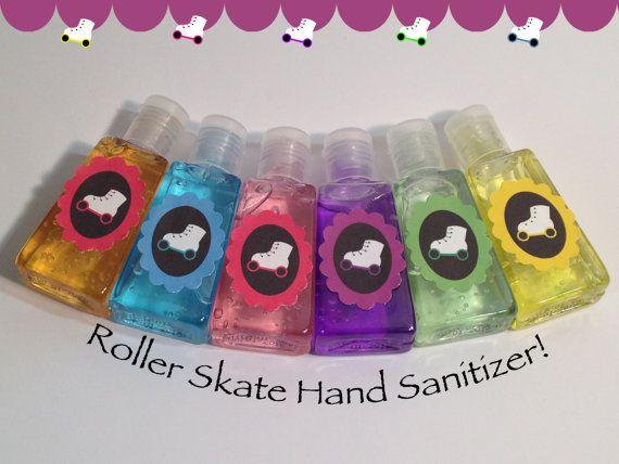 Roller Skating Party Favors-Roller Skating Hand Sanitizer-Roller Skating Hand Wash-Skating Party Supplies-Set Of 6 on Etsy, $12.00