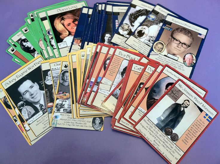 Ancestor deck of cards, How cool is that! Step by step planning and organizing for the cards.