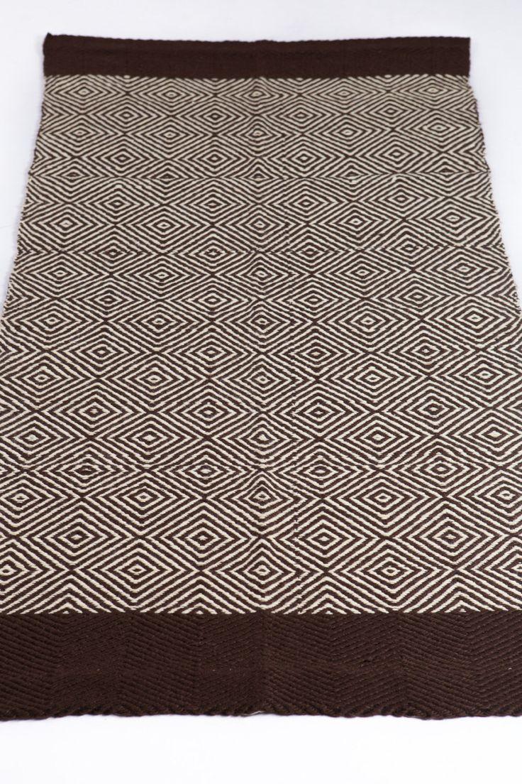 Scandinavo tappeto vintage, avorio marrone, pavimento corridore, moquette di lana, tappeto, tappeto scandinavo, fatti a mano su telaio, pronto per la spedizione, 90 x 190 di HermanTextiles su Etsy https://www.etsy.com/it/listing/220260573/scandinavo-tappeto-vintage-avorio