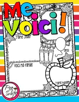 Me Voici! poster is just right for Back to School! Students love to write about themselves so why not do it in a fun poster-style?